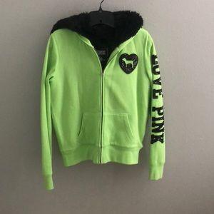 Lime Green PINK hoodie